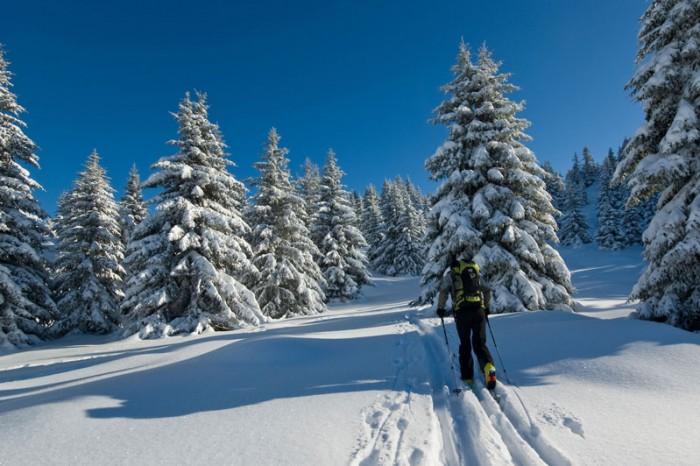 ski de randonnee rouge gazon vosges